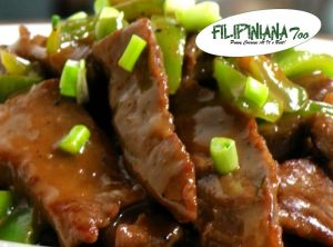 Filipiniana Too beef in oyster sauce