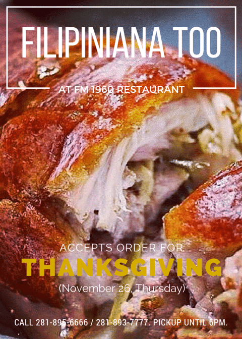 FilToo accepts order for Thanksgiving